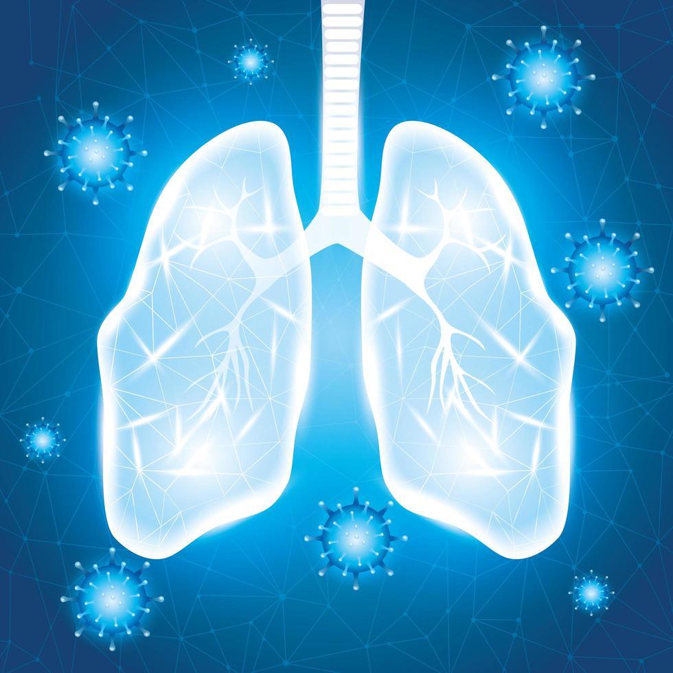 polmoni umani per la campagna contro il coronavirus vettore