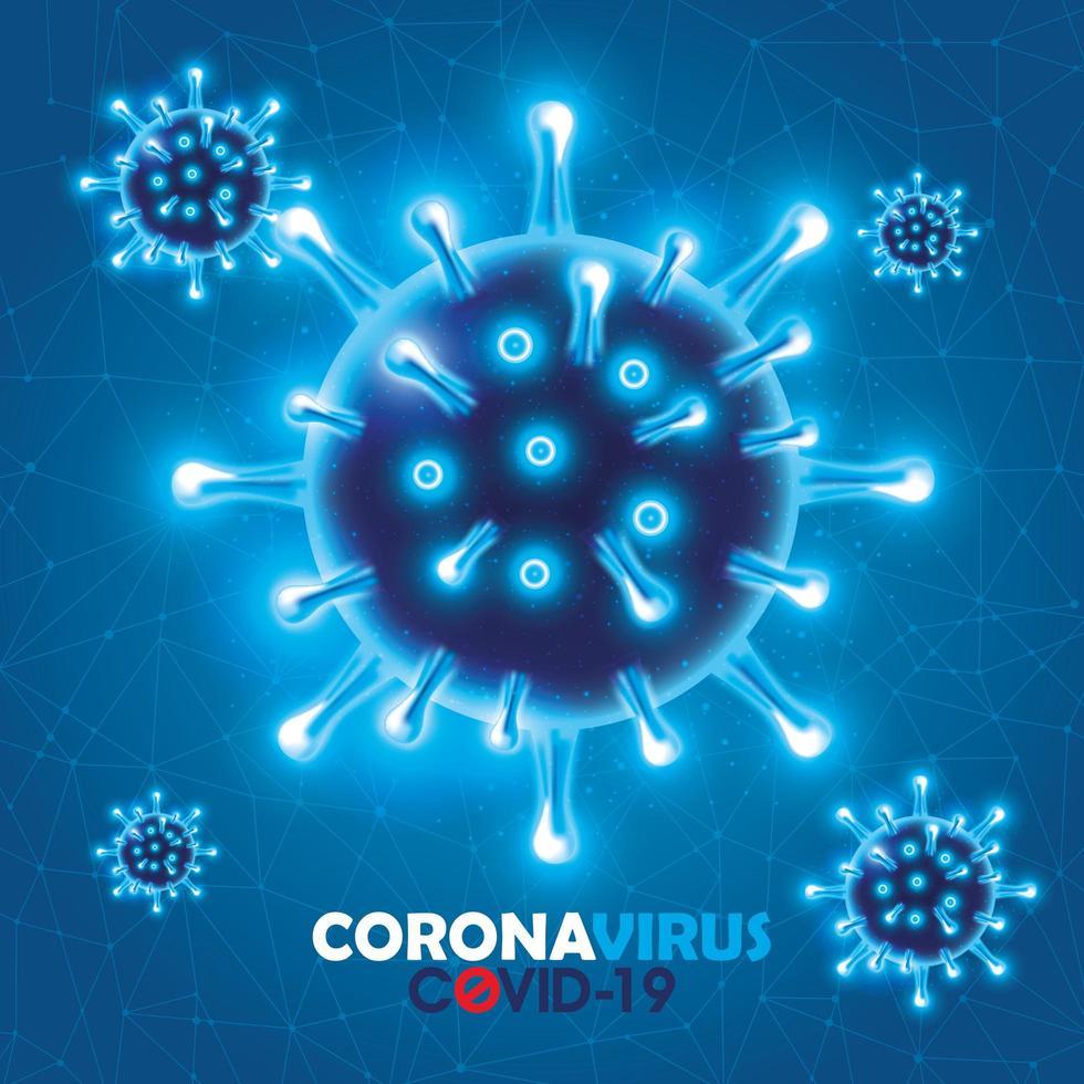sfondo della campagna di coronavirus vettore