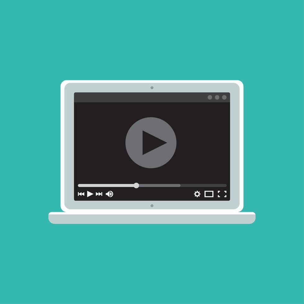 modello web del modulo video per notebook vettore