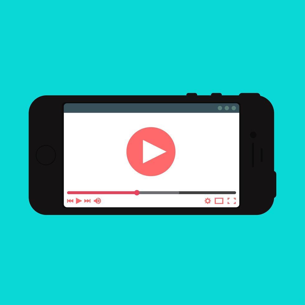 modello web del modulo video per smartphone vettore