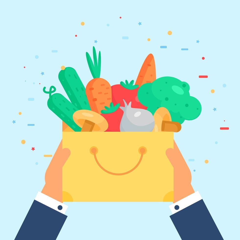 distintivo di verdure fresche vettore
