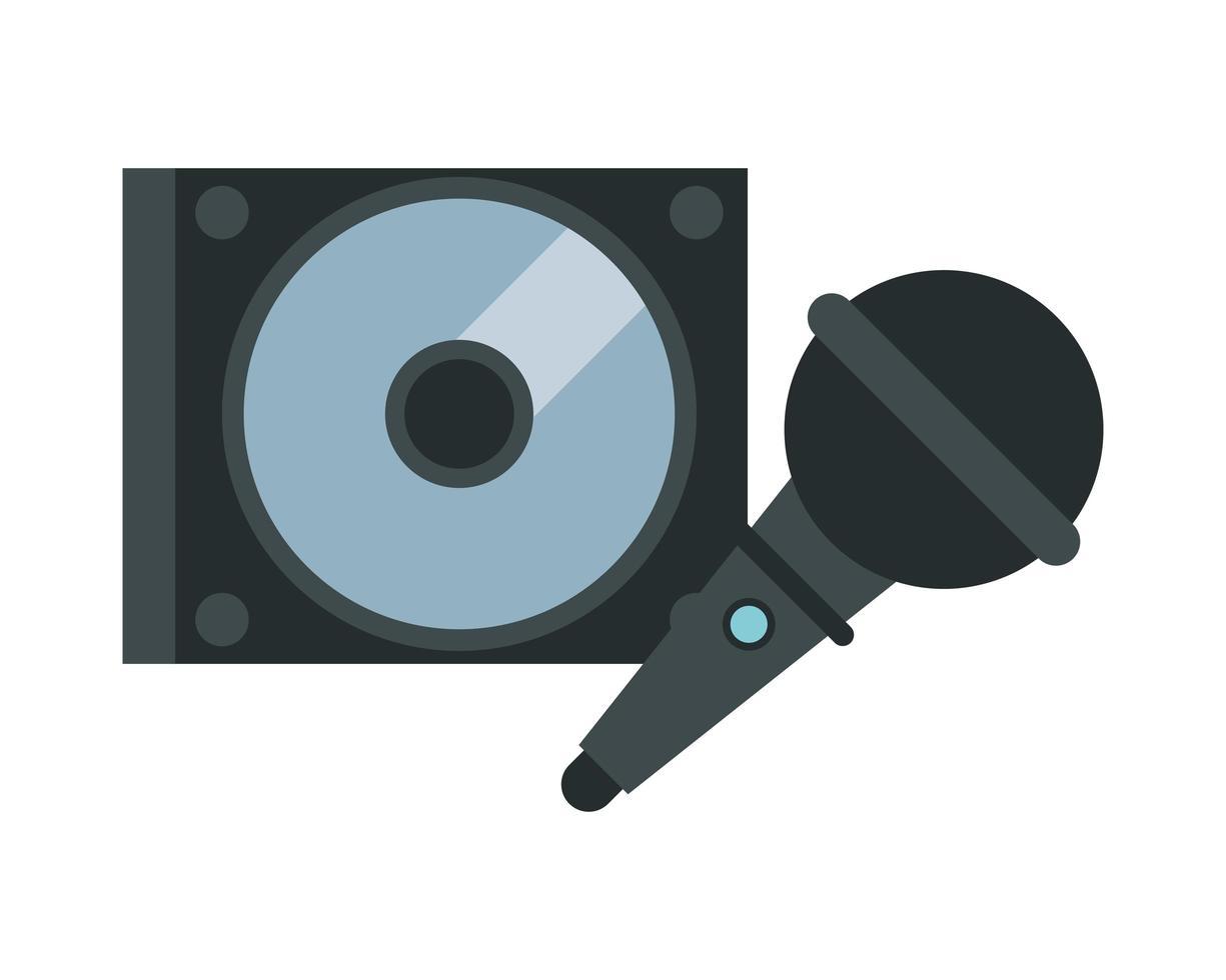 dispositivo compact disc e microfono vettore