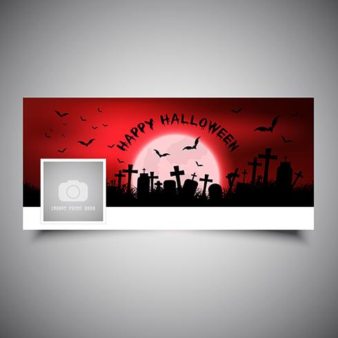 Halloween design timeline cover vettore