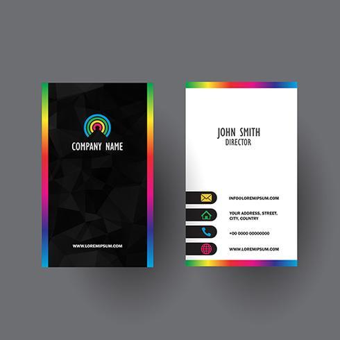 Design colorato biglietto da visita vettore