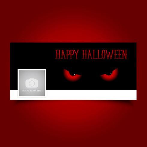 Copertura della timeline degli occhi diabolici di Halloween vettore