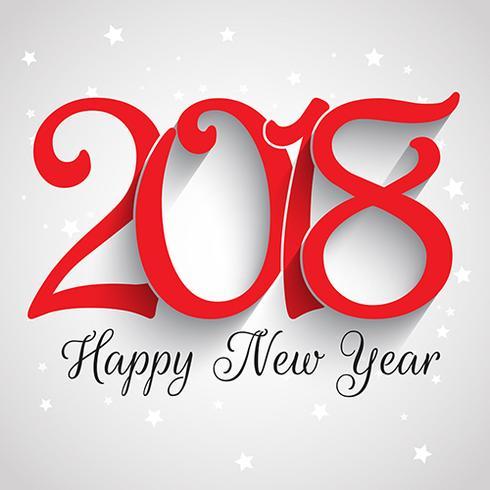 Felice anno nuovo sfondo tipografia vettore