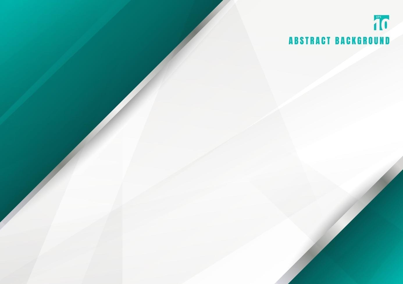modello astratto blu turchese e sfondo bianco strati sovrapposti diagonali vettore