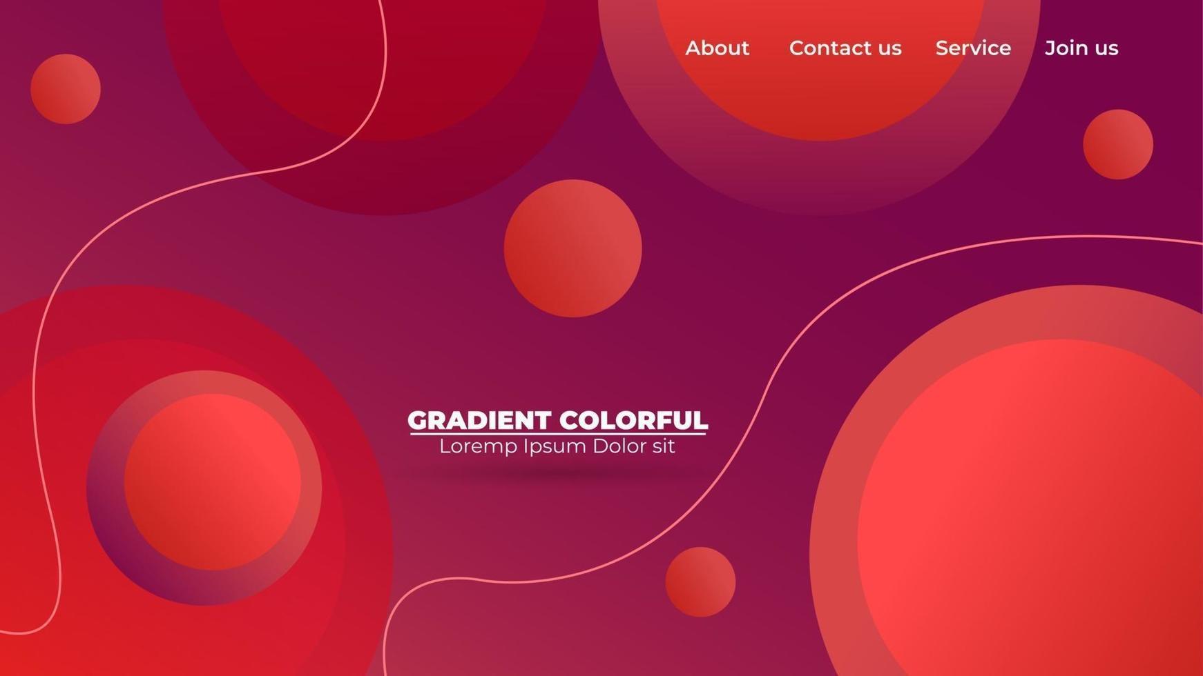sfondo geometrico ondulato gradiente astratto moderno. adatto per carta da parati, banner, sfondo, carta, illustrazione di libri, pagina di destinazione, regalo, copertina, volantino, rapporto, affari, social media vettore
