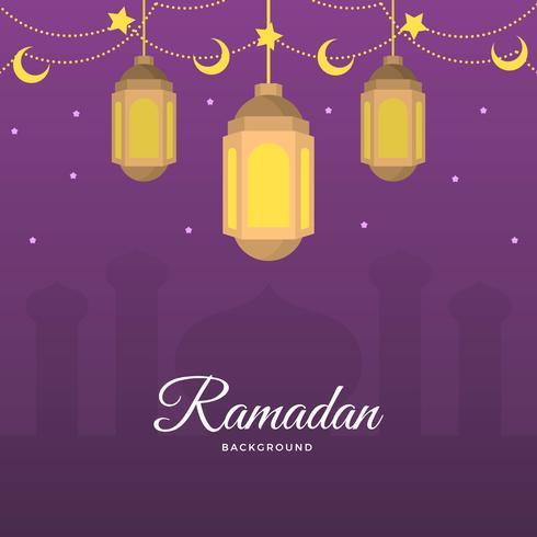 Ramadan piatto Vector Background