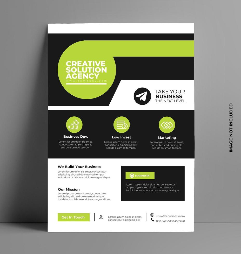 brochure flyer design layout template vettoriale. vettore