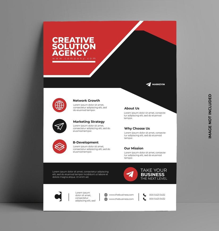 modello di layout design flyer in formato a4. vettore