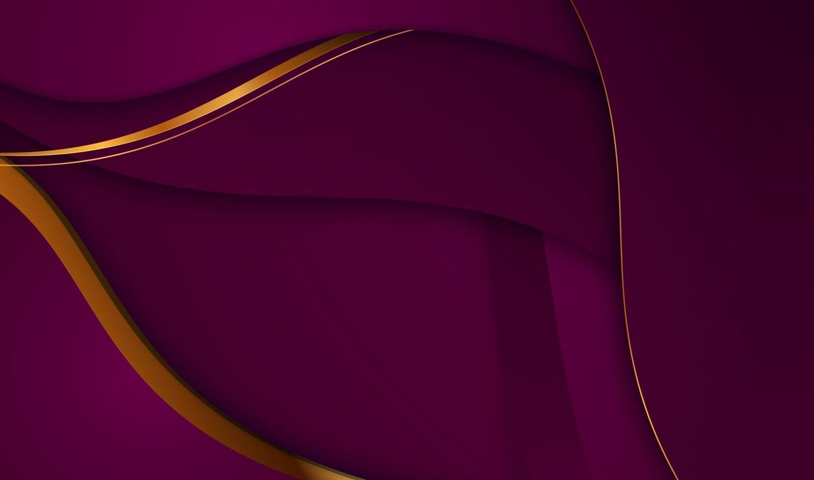 carta tagliata sfondo oro di lusso con struttura in metallo 3d astratto vettore