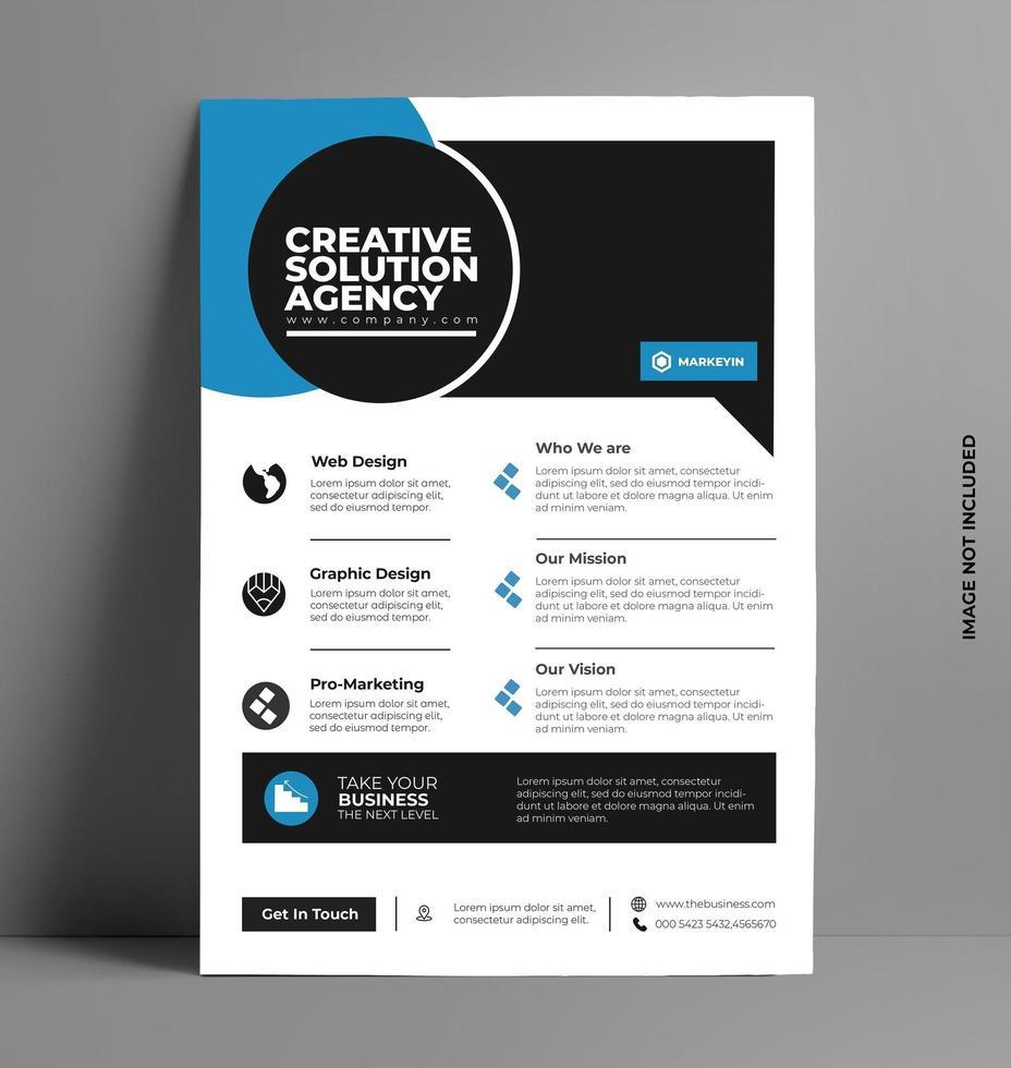 brochure aziendale flyer design vettoriale. vettore