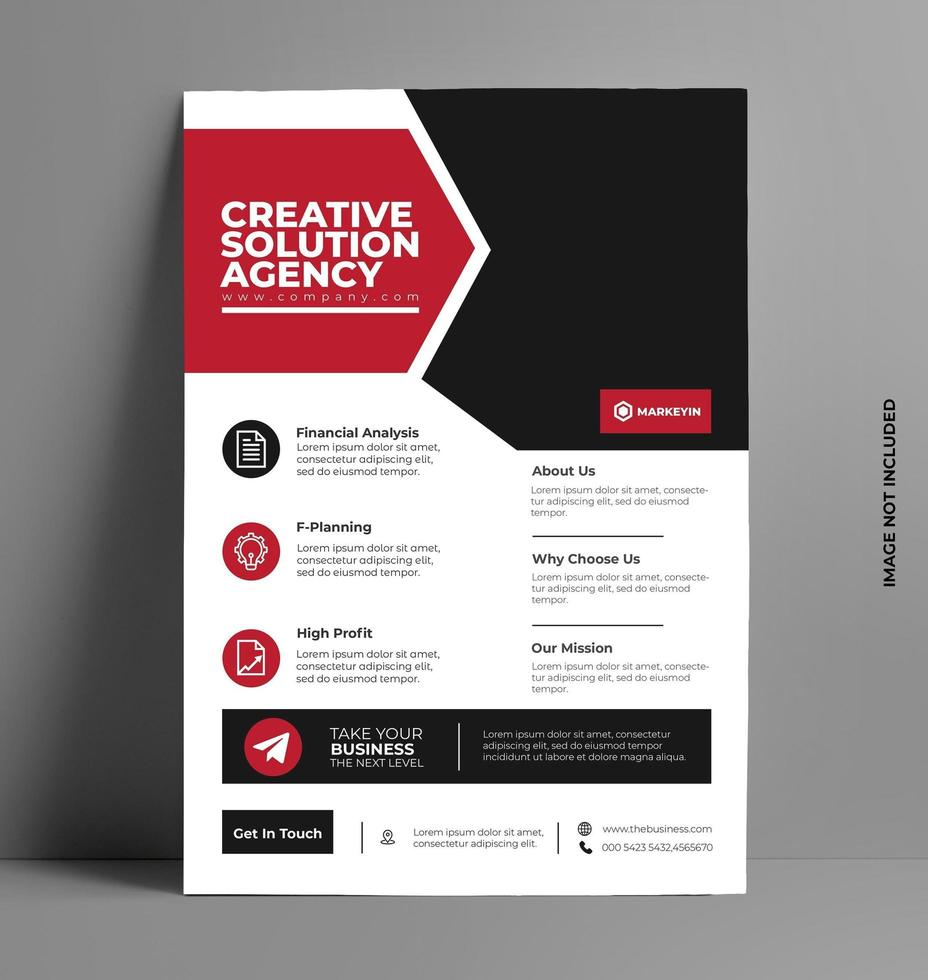 vettore di layout design brochure flyer rosso.