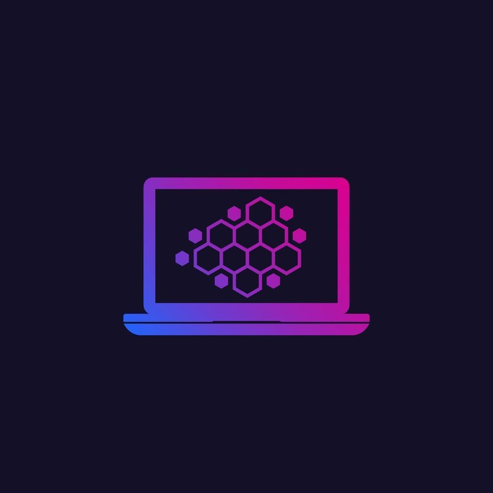 nano material research vector icon.eps
