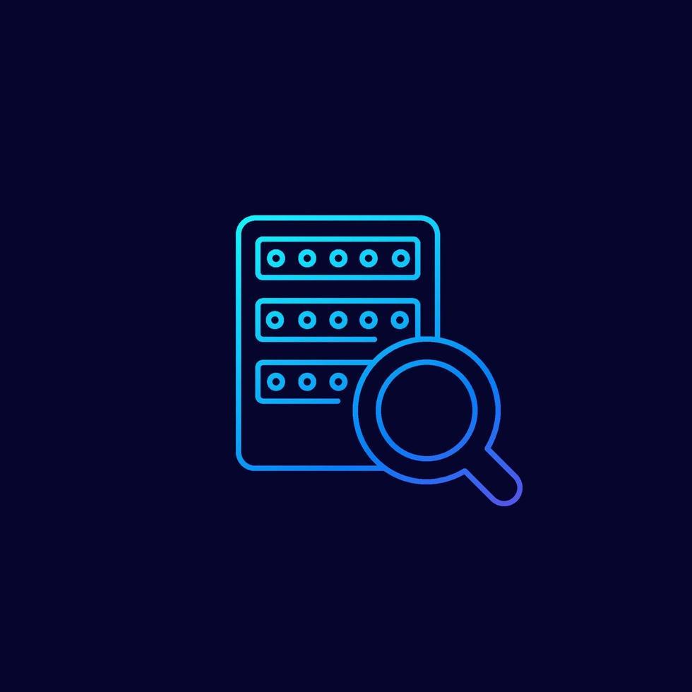 ricerca mainframe o server, icon.eps lineare vettore