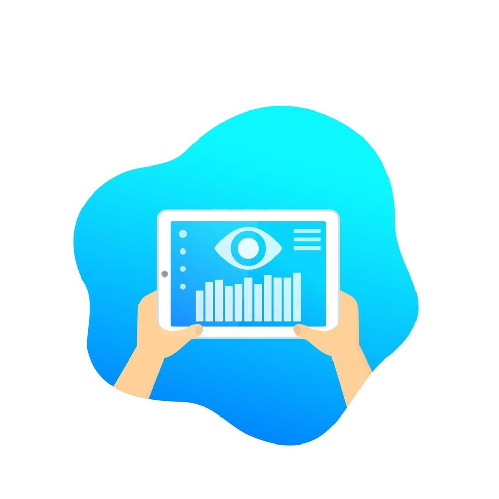 monitoraggio dei dati, software mobile, vector.eps vettore