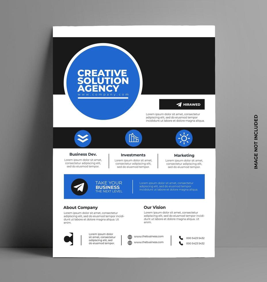 vettore brochure flyer design vettoriale.