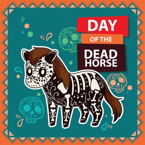 Giorno dell'illustrazione del cavallo morto vettore