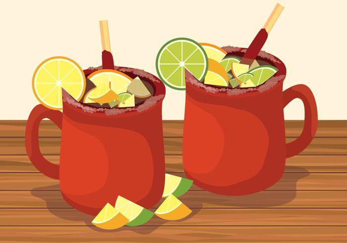 Illustrazione di vettore del cocktail dei cantaritos