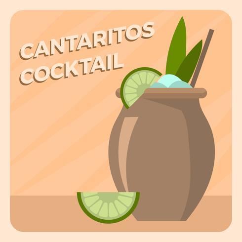 Illlustration di vettore del cocktail piano di Cantaritos