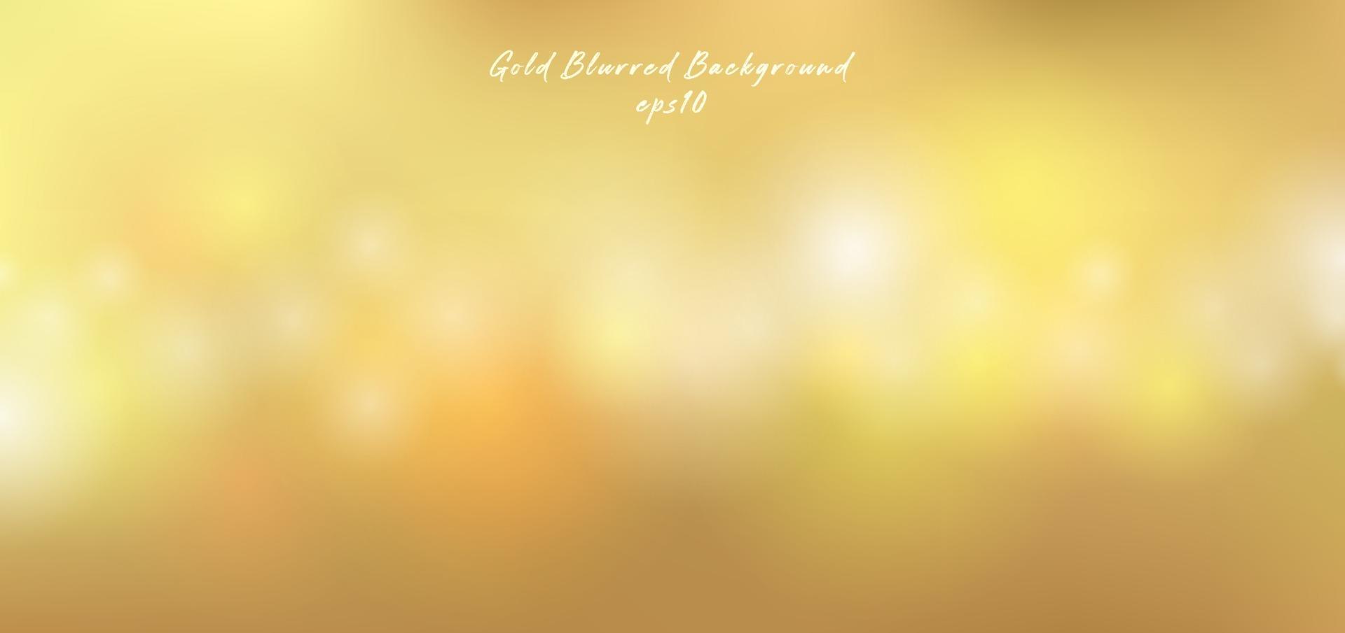 effetto bokeh luci oro, sfondo sfocato premium stile lusso. vettore