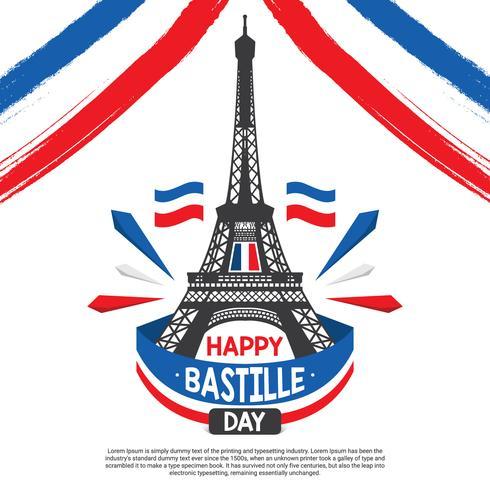 Vettore dell'illustrazione di Bastille Day