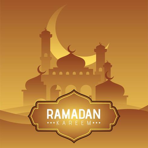 Sfondo di Ramadan vettore