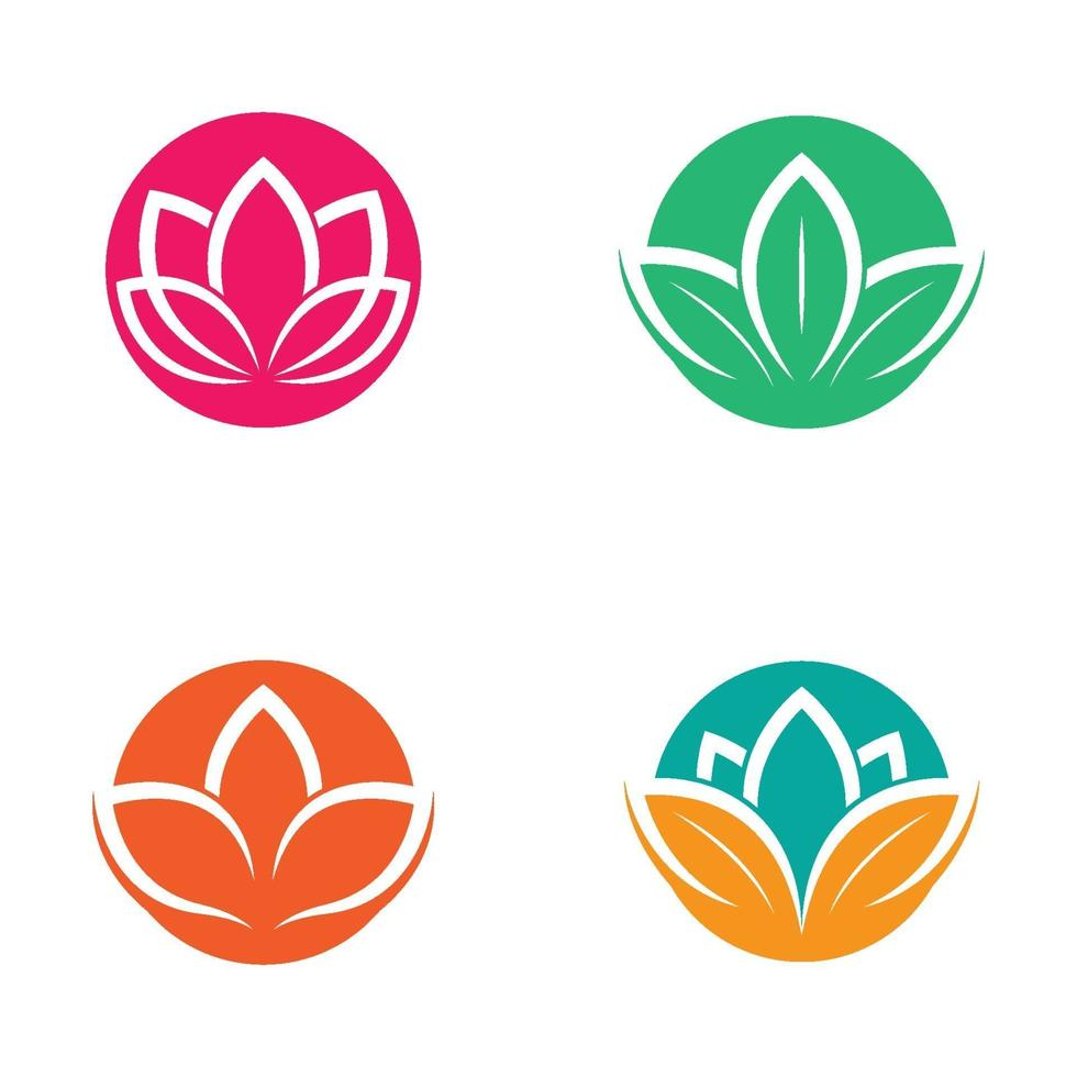 immagini del logo di loto di bellezza vettore