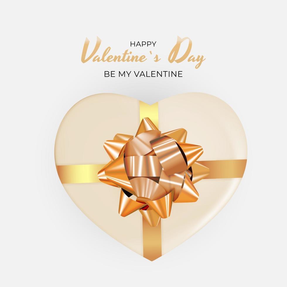 fondo della carta regalo di festa di San Valentino, design realistico vettore