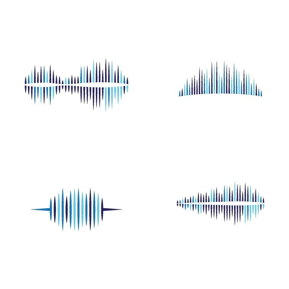 immagini delle onde sonore vettore
