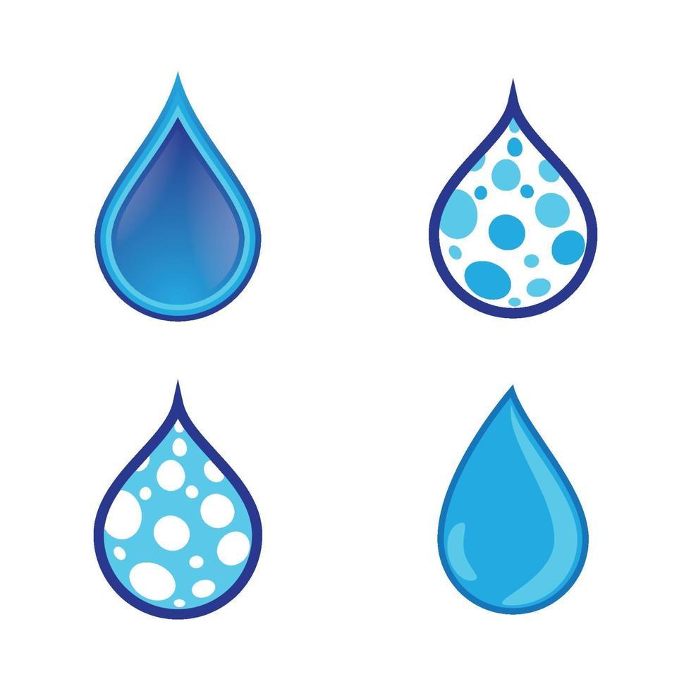immagini del logo goccia d'acqua vettore
