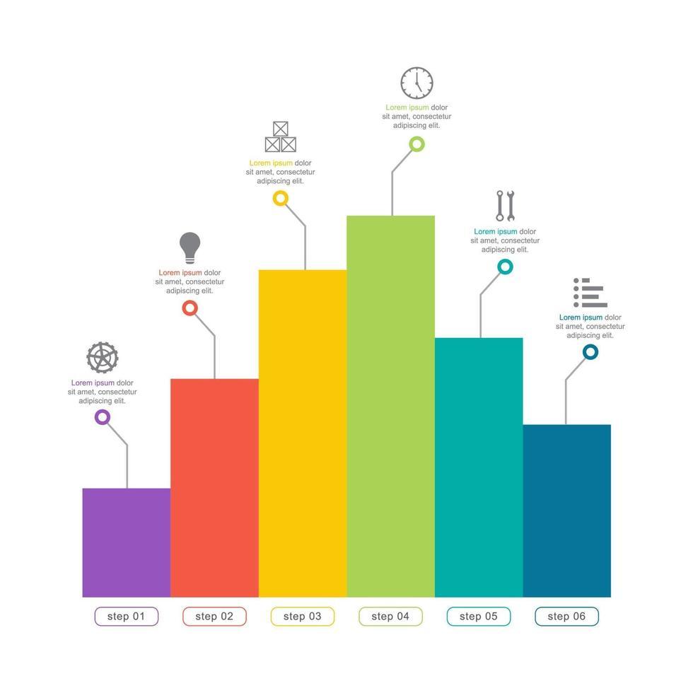 diagramma del grafico a barre per l'illustrazione di analisi finanziaria vettore