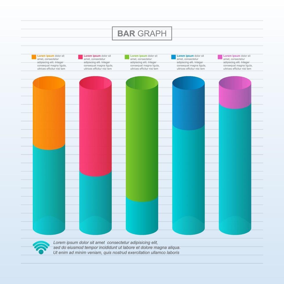 grafico a barre che mostra la ripresa finanziaria dopo la crisi infografica vettore