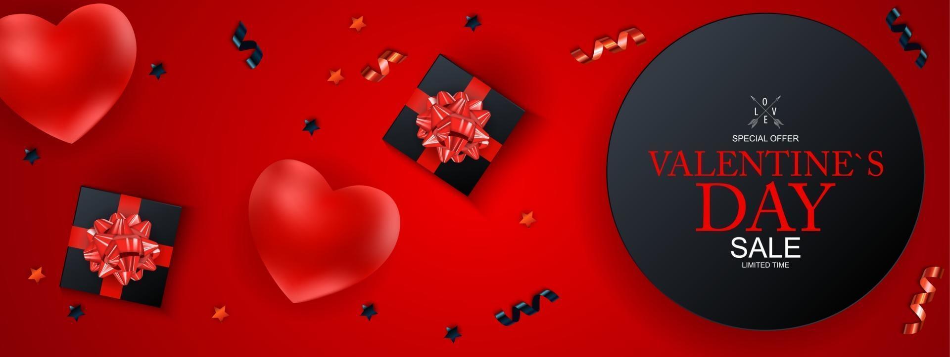 felice giorno di San Valentino vendita sfondo, poster, carta, invito. vettore