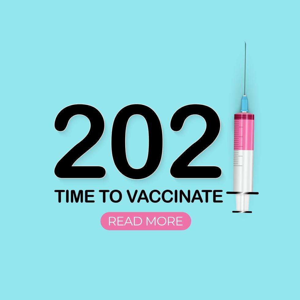 tempo di vaccinare 2021, vaccinazione contro il coronavirus vettore