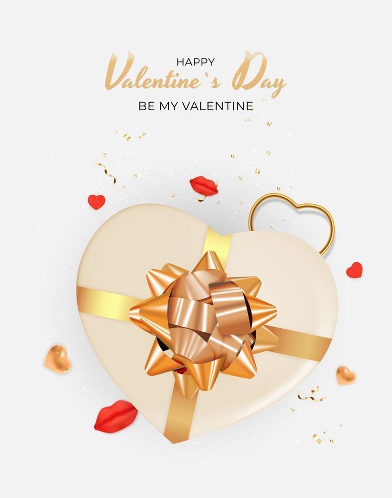 disegno del regalo di festa di San Valentino vettore