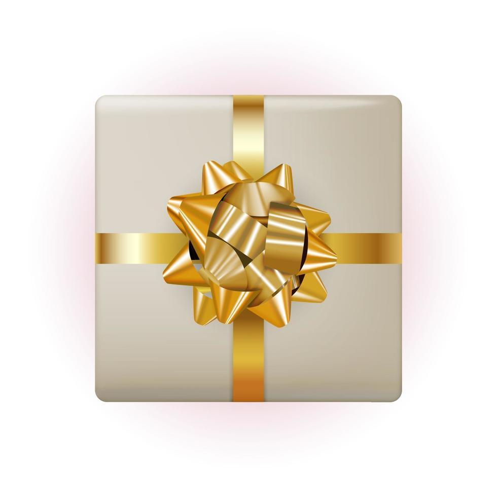 confezione regalo con fiocco e nastro. illustrazione vettoriale