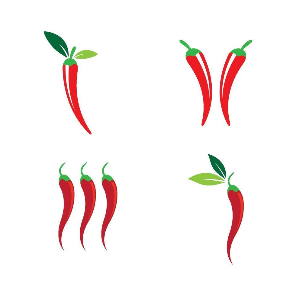 illustrazione di immagini di peperoncino vettore