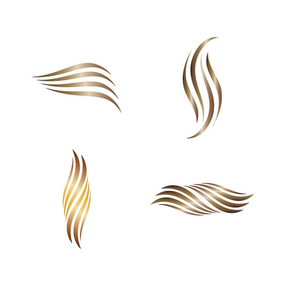 logo del salone e dei capelli di bellezza vettore