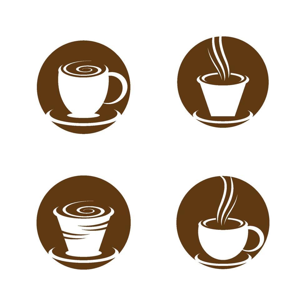 immagini del logo della tazza di caffè vettore