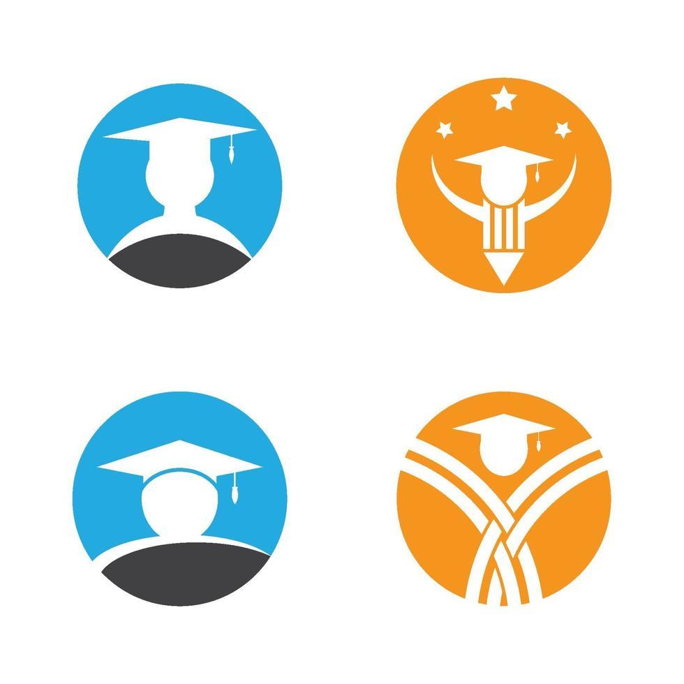 progettazione del logo di educazione vettore