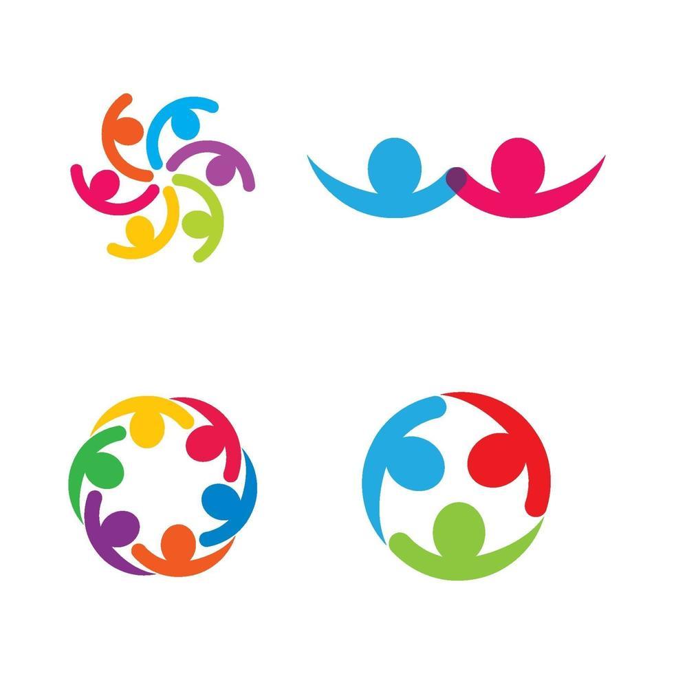 progettazione delle immagini del logo di cura della comunità vettore