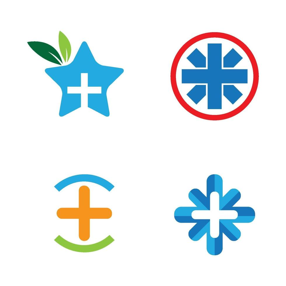 immagini del logo di cure mediche vettore
