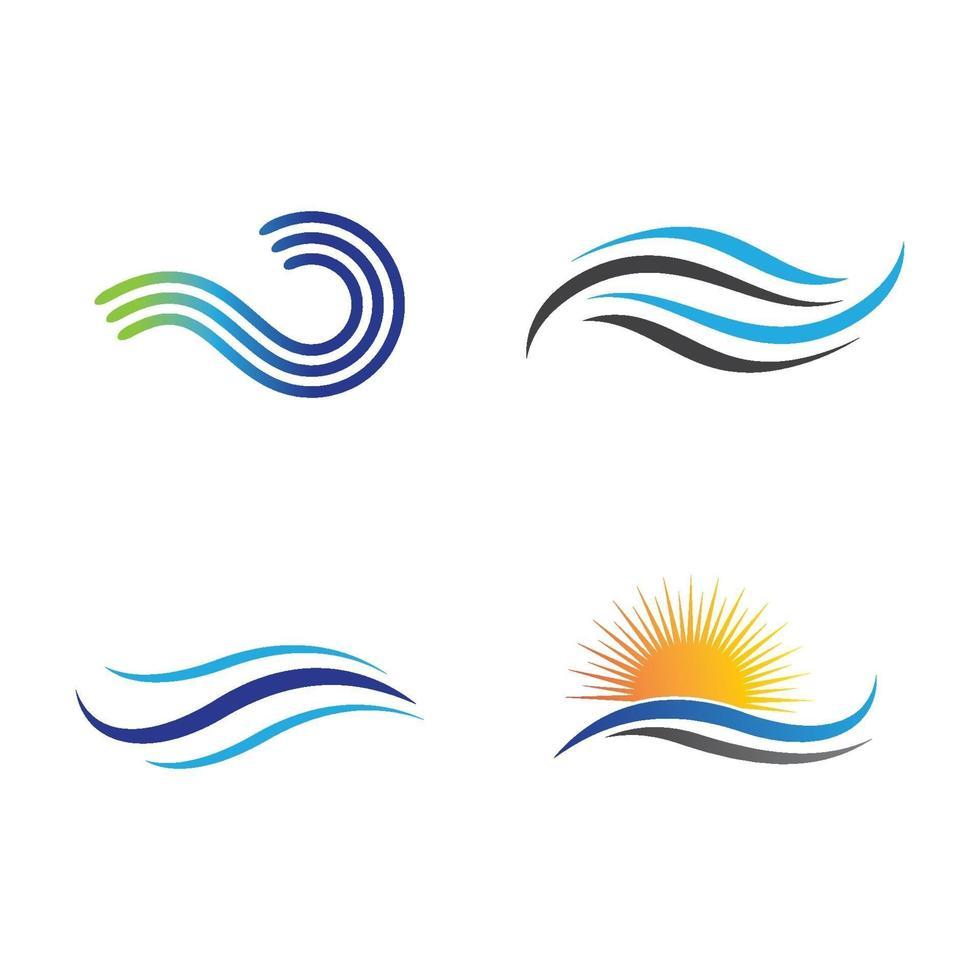 immagini del logo dell'onda d'acqua vettore