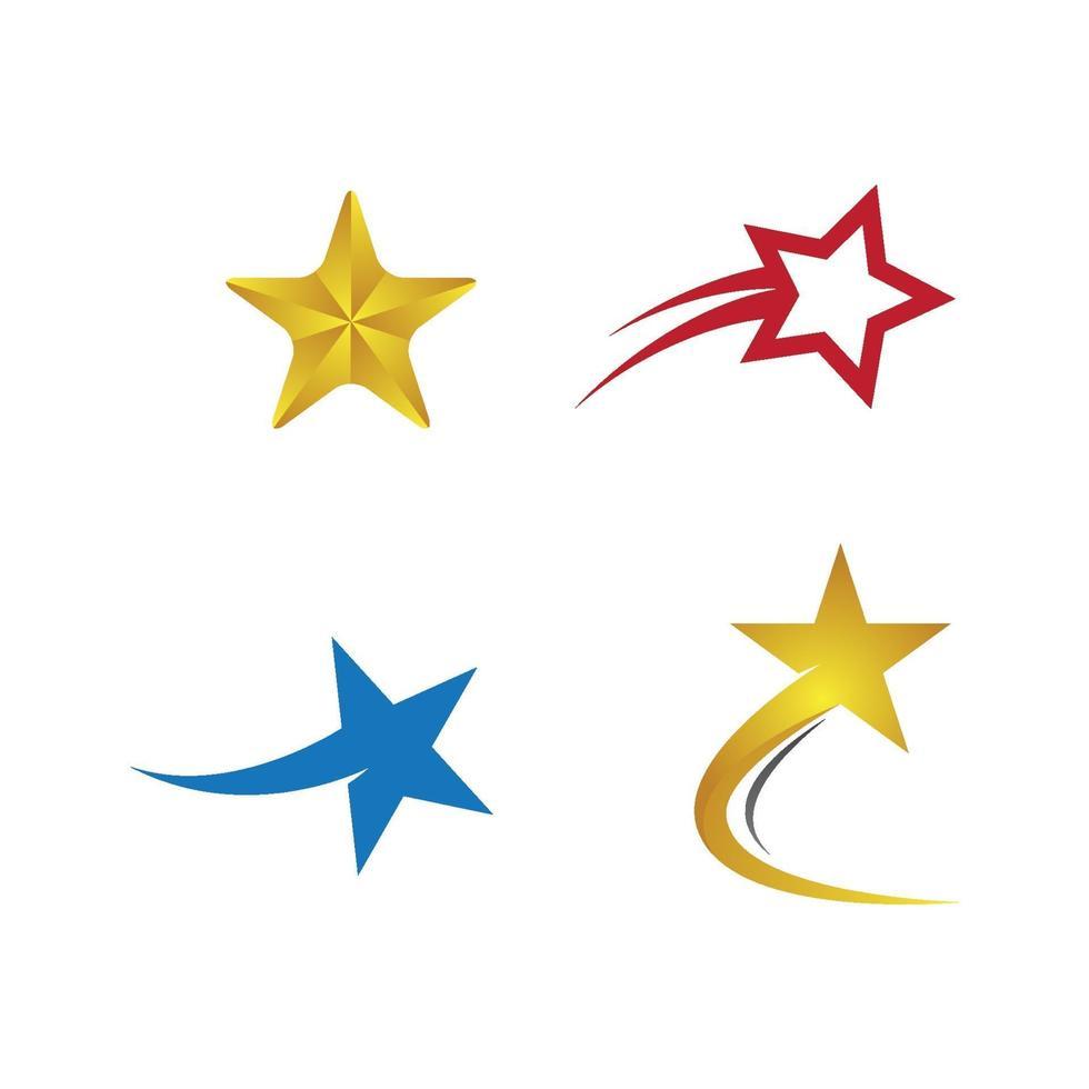 immagini del logo della stella vettore