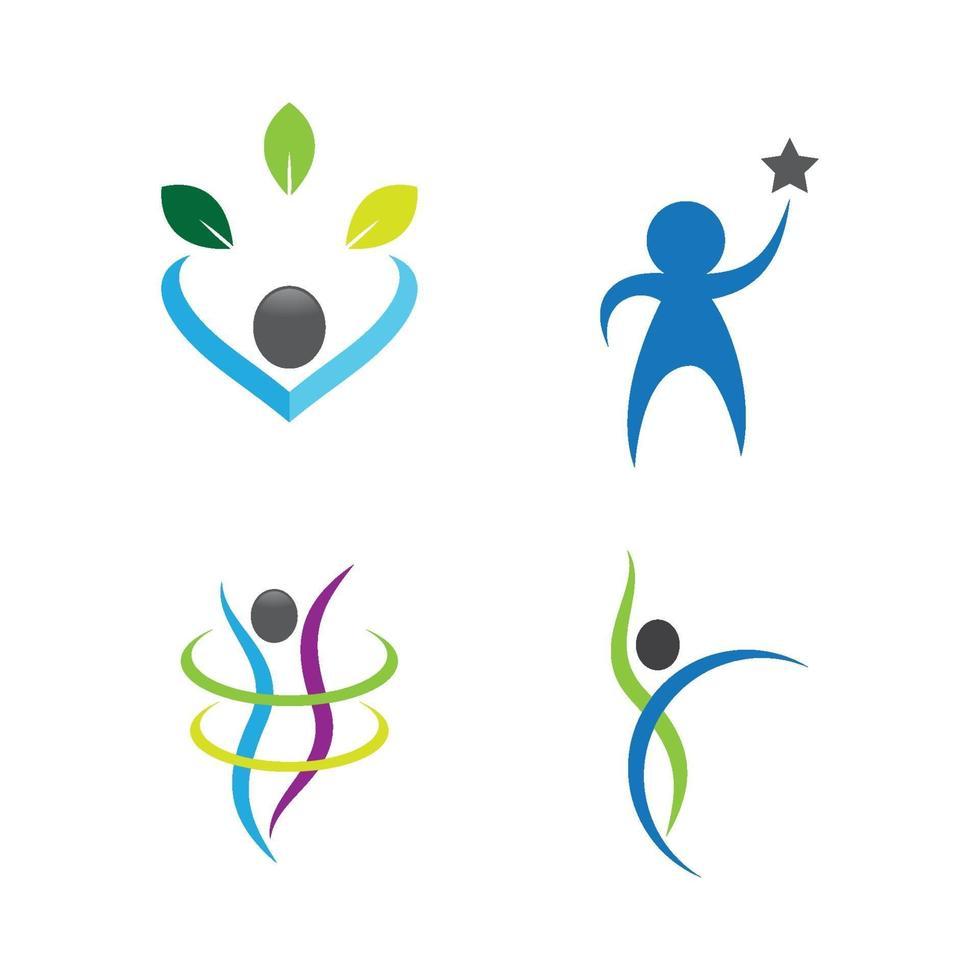 progettazione di immagini del logo di benessere vettore