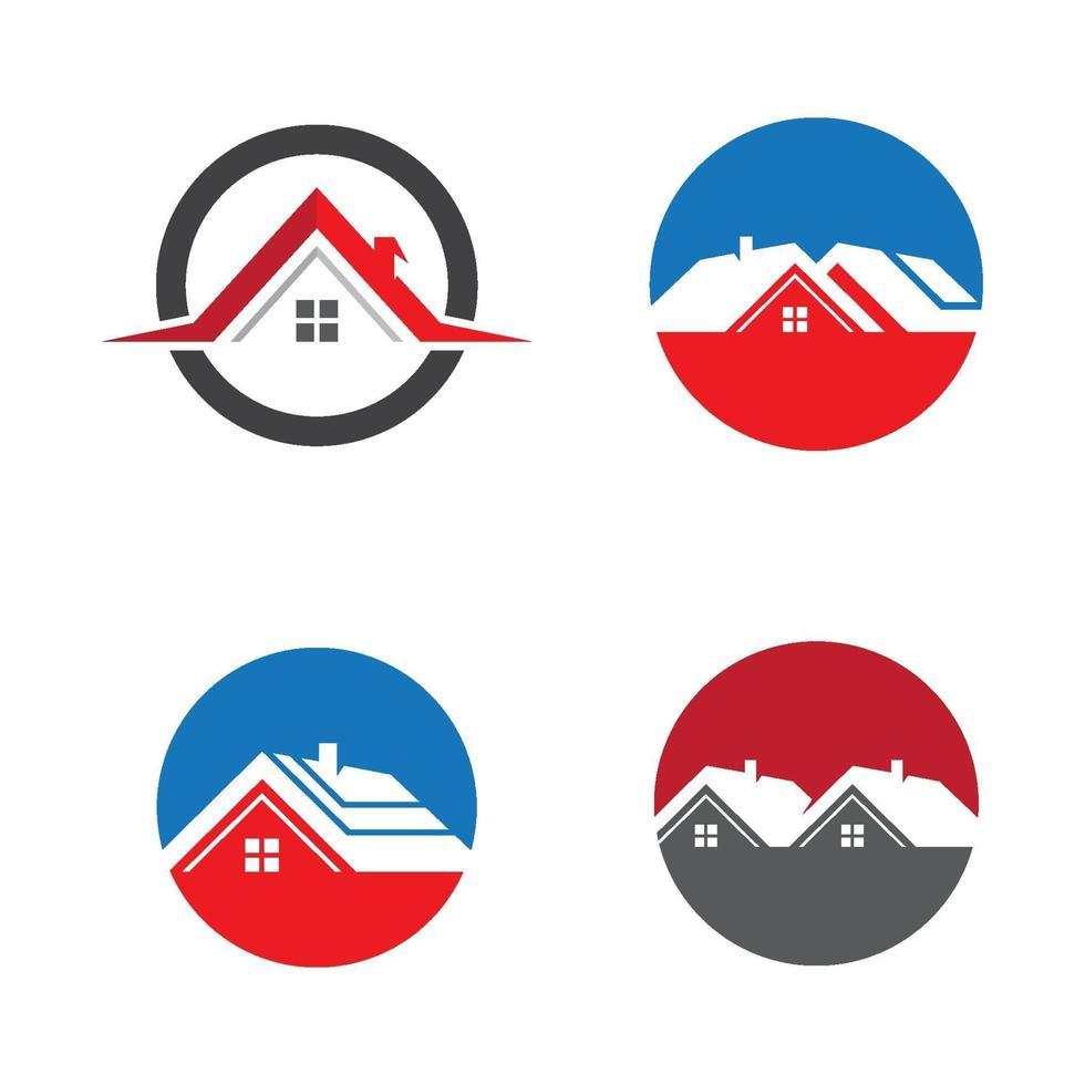 immagini del logo della casa vettore