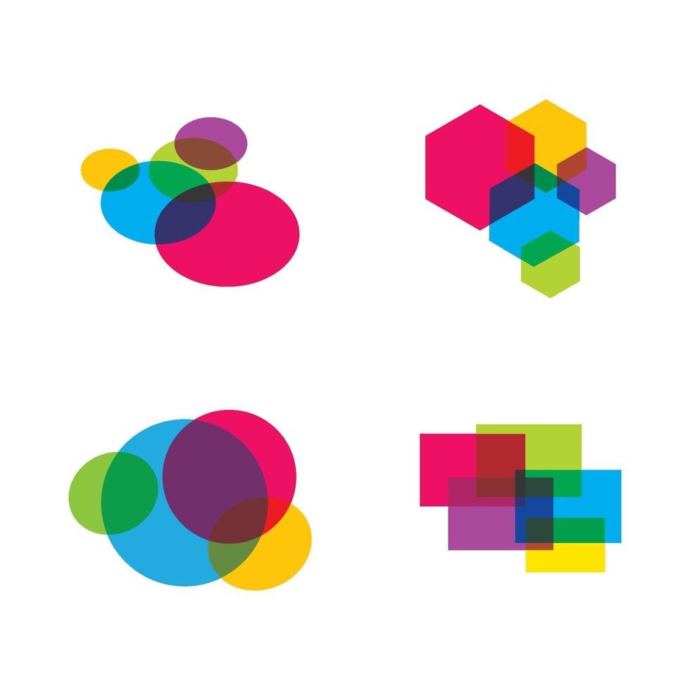immagini del logo della bolla di discorso vettore