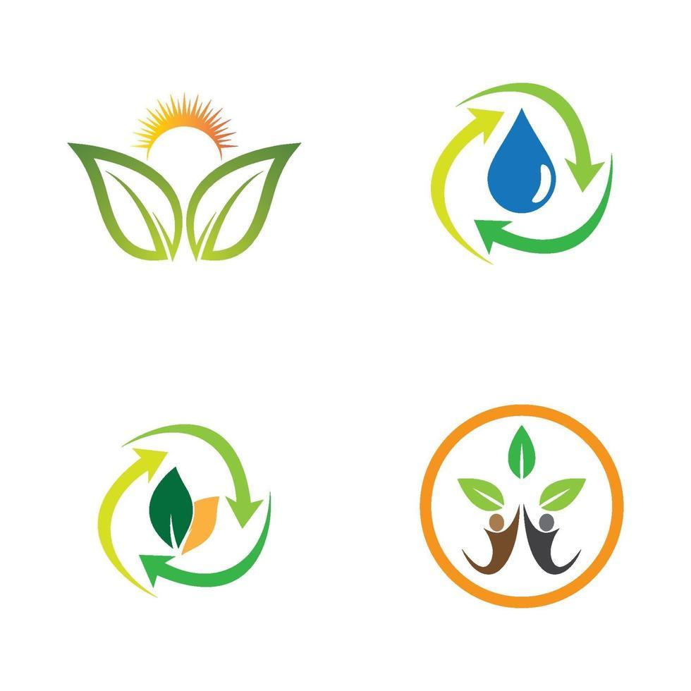 illustrazione di immagini di ecologia vettore